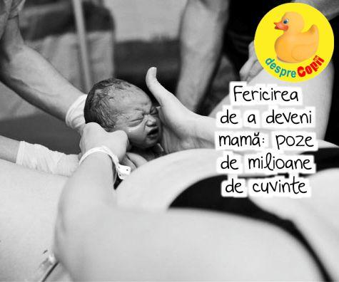 Fericirea de a deveni mama: poze de milioane de cuvinte