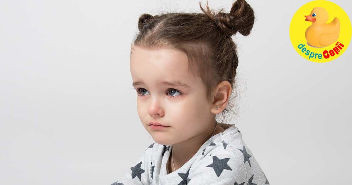 Copii cu frici - despre fricile copilariei
