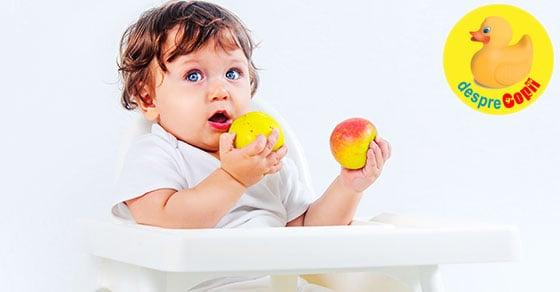 Introducerea fructelor in alimentatia bebelusului: ghid pe luni - diagrama