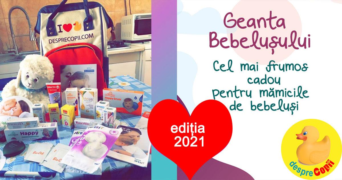 Geanta Bebelusului, cadou pentru gravidute - editia 2021