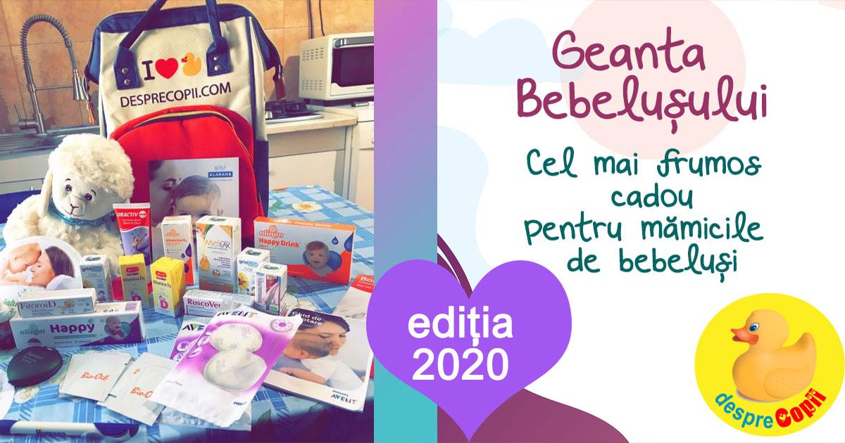 Geanta Bebelusului, cadou pentru gravidute - editia 2020