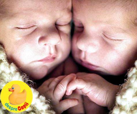 Despre gemeni: de la surpriza ecografiei la o viata cu griji si bucurii la dublu