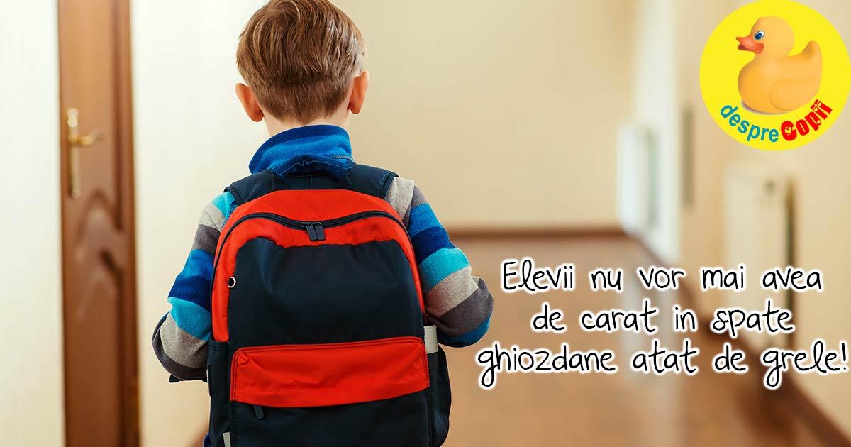 Cand incepe scoala, ghiozdanul elevului va fi mult mai usor. Iata noul Ordin al Ministrului Sanatatii