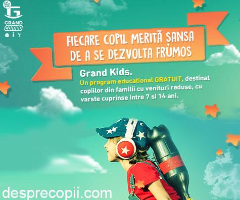 Grand Kids, program educational gratuit destinat copiilor din familii cu venituri reduse