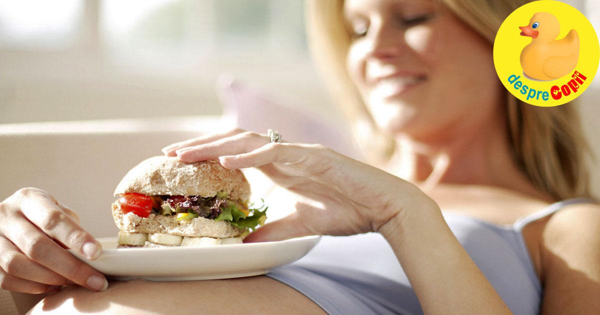 Alimentatia mamei in timpul sarcinii influenteaza greutatea dar si inteligenta copilului
