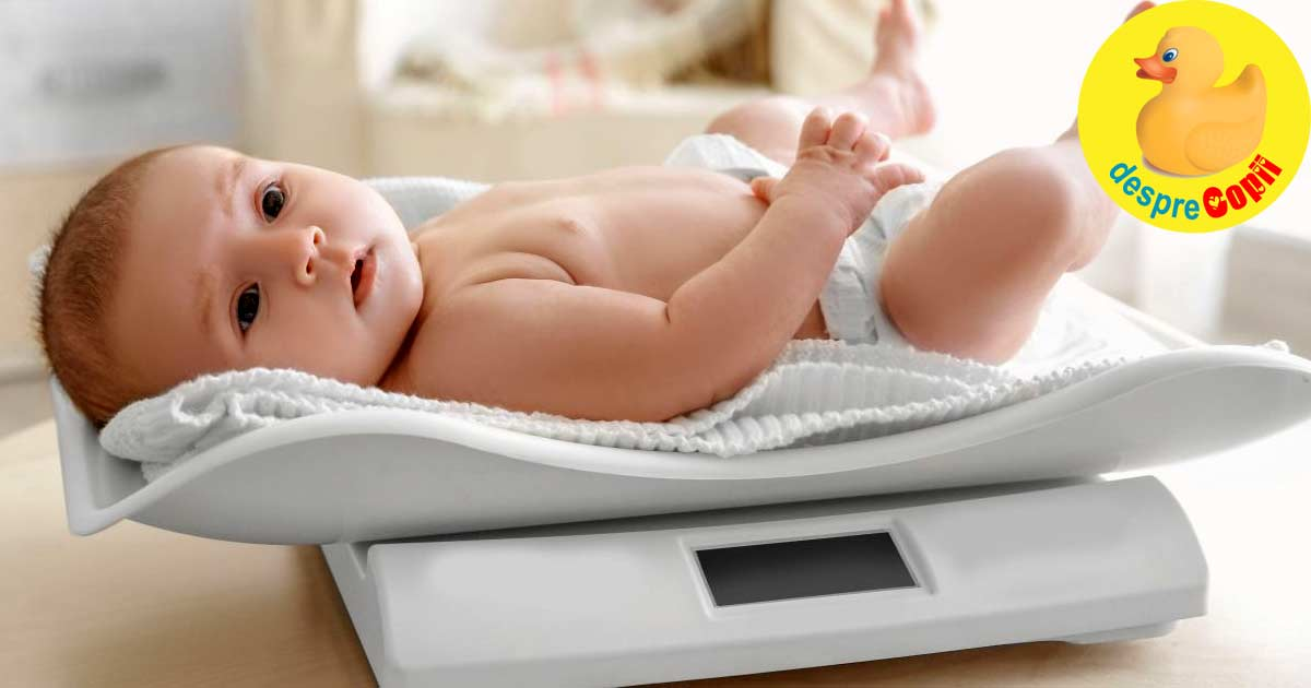 Cat ia bebelusul in greutate in primul an - iata sfatul medicului pediatru