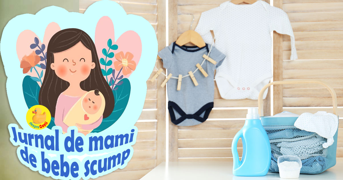 Spalatul si calcatul hainutelor de bebe: am ajuns in sfarsit sa fiu mai relaxata - jurnal de mami de bebe scump