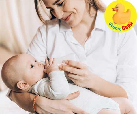 Iti hranesti bebelusului cu biberonul? Despre vina si frici. Iata cum sa creezi o legatura speciala cu bebelusul tau