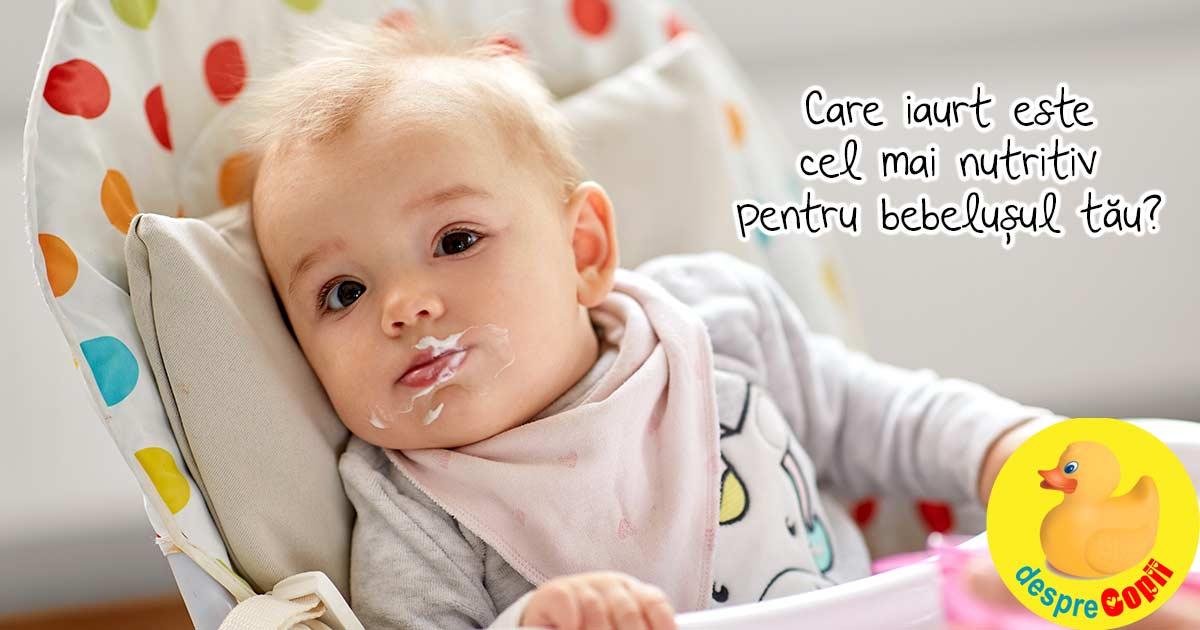 Cel mai bun iaurt pentru bebelusul tau: cum il alegem, ce compozitie trebuie sa aiba si de ce