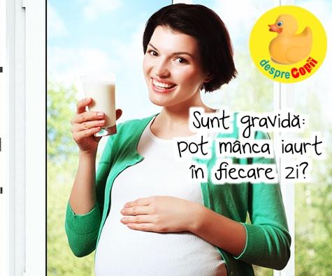 Sunt gravida: pot manca iaurt in fiecare zi?