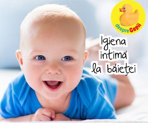 Igiena intima la bebelusul baietel