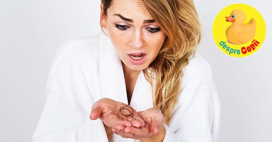 7 solutii eficiente pentru a preveni caderea parului dupa nastere