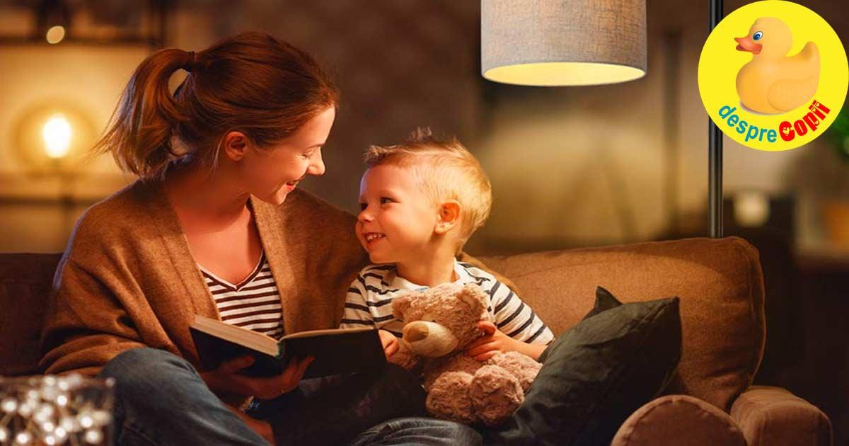 Un milion de cuvinte mai putin au copiii carora nu li se citeste acasa