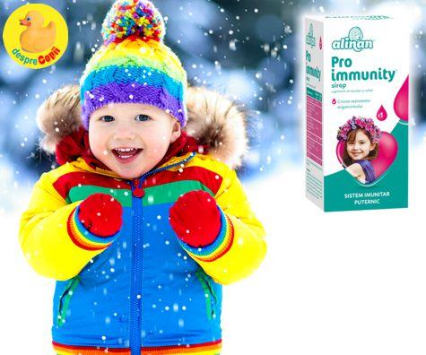Cum putem creste imunitatea copilului in plin sezon de gripa si raceala