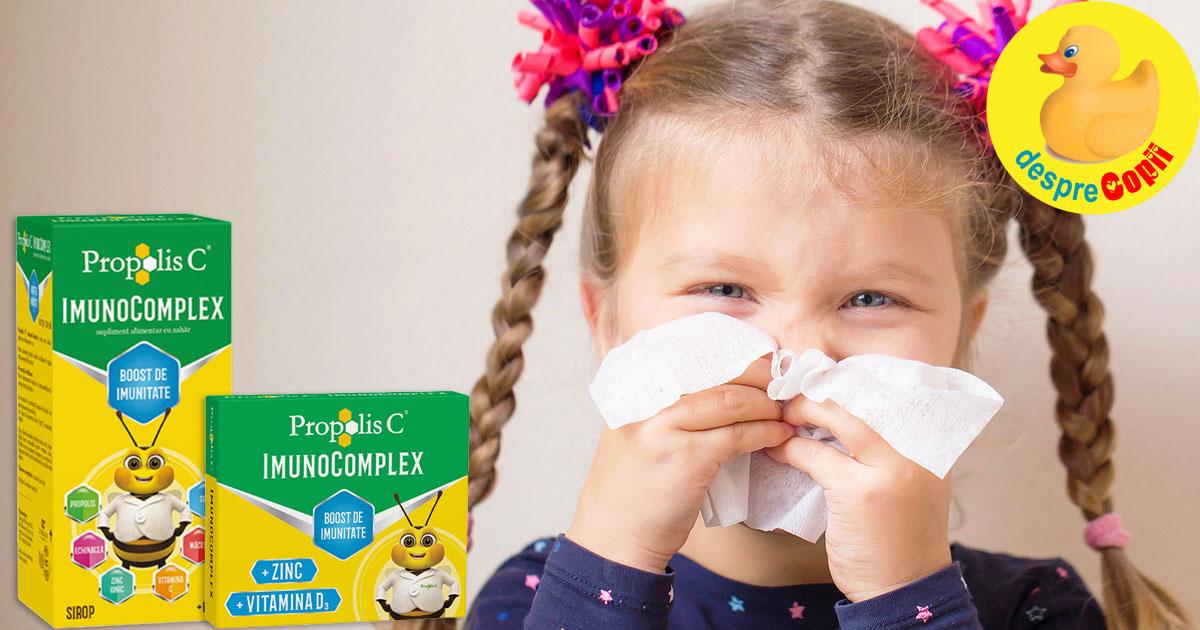 Iata cum oprim raceala si gripa copiilor cu un boost de imunitate bazat pe ingredientele puternice ale naturii