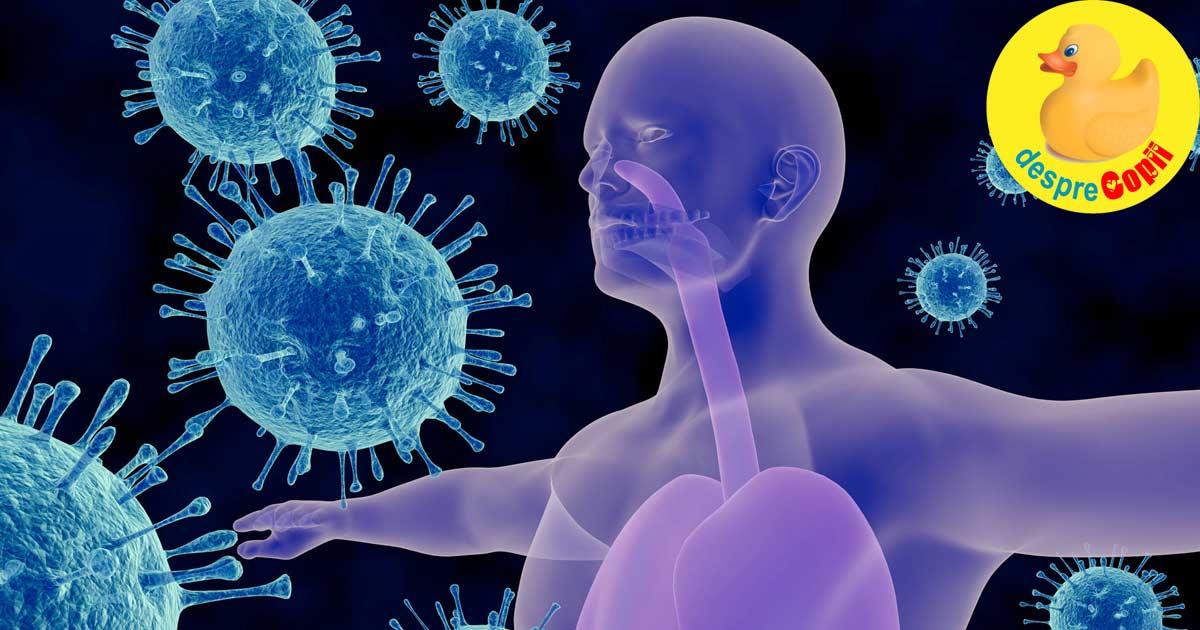 Coronavirus: Imunitatea fiecaruia din noi va fi extrem de importanta in anii care vin