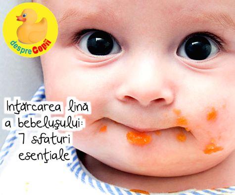 Intarcarea lina a bebelusului: 7 sfaturi esentiale