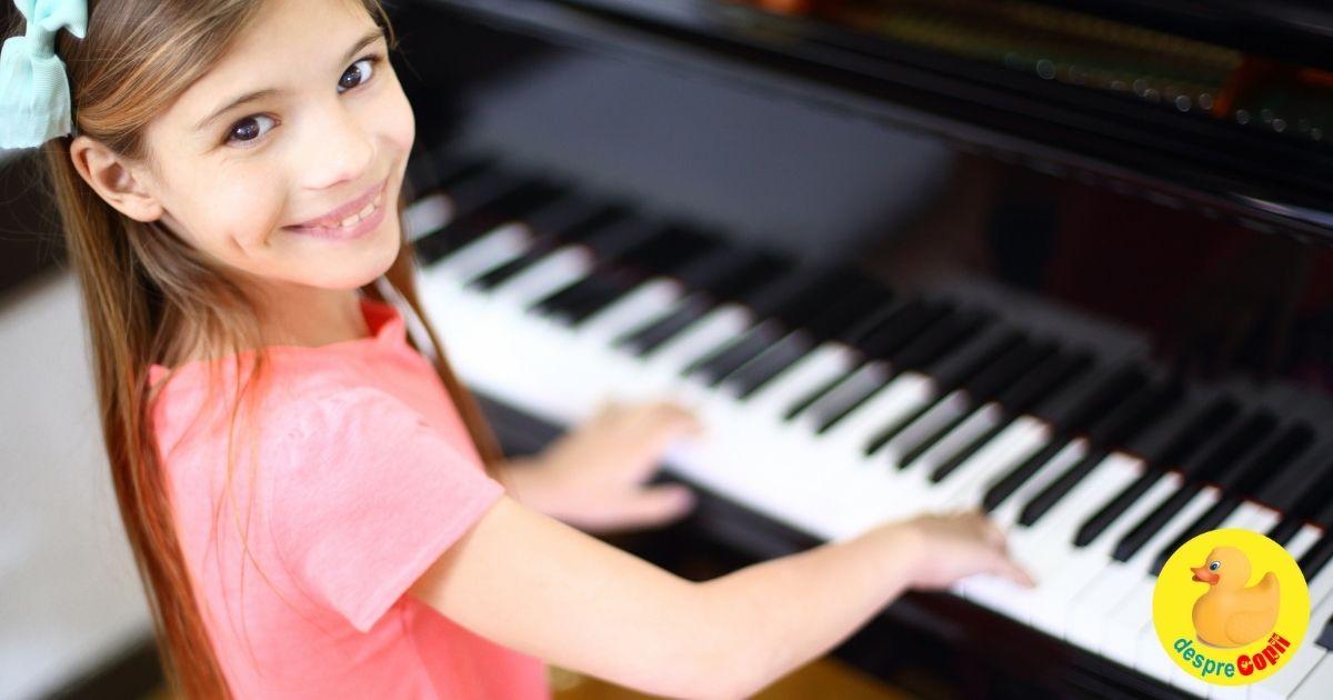 Investeste in inteligenta copilului cu lectii de pian