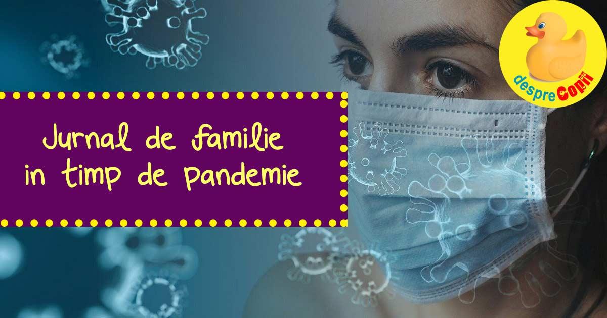 Jurnal de familie in timp de pandemie