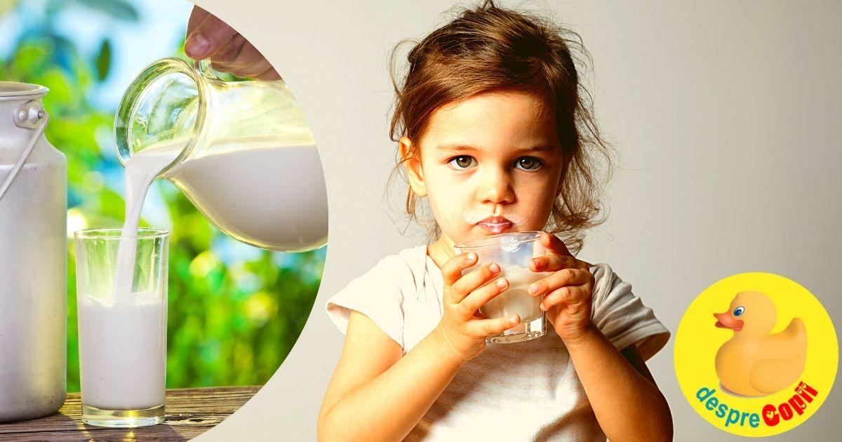 Ce fel de lapte dam copilasului de peste 1 an? Sfatul medicului.