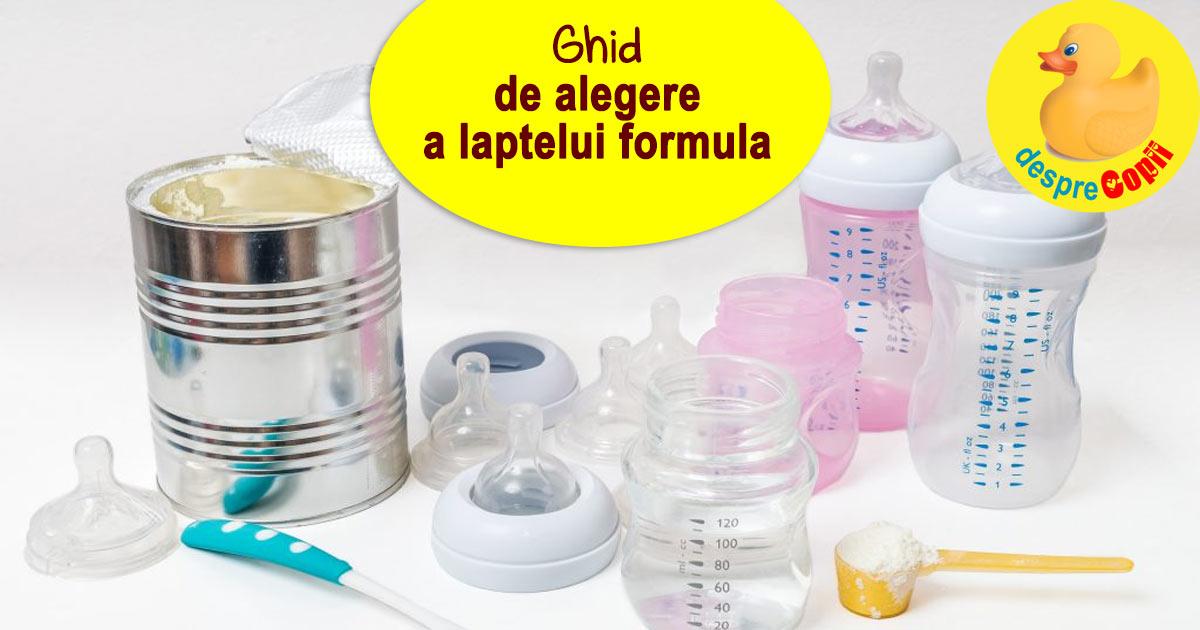 Cum alegem formula de lapte praf: ghid pentru mamici de bebelusi