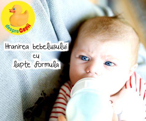 Hranirea bebelusului cu lapte formula: puncte de luat in considerare