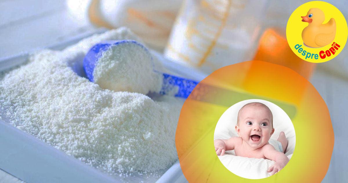Ce lapte formula este cel mai bun pentru bebelusi? Iata variantele explicate.