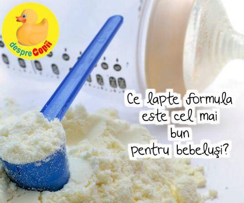Ce lapte formula este cel mai bun pentru bebelusi? Iata variantele explicate de medicul pediatru.