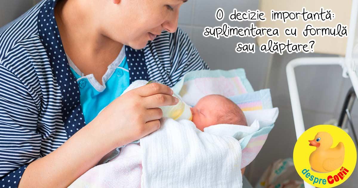 Decizii importante de luat pentru copil inainte de nastere: hranirea si eventual suplimentarea cu lapte matern din banca de lapte sau lapte formula