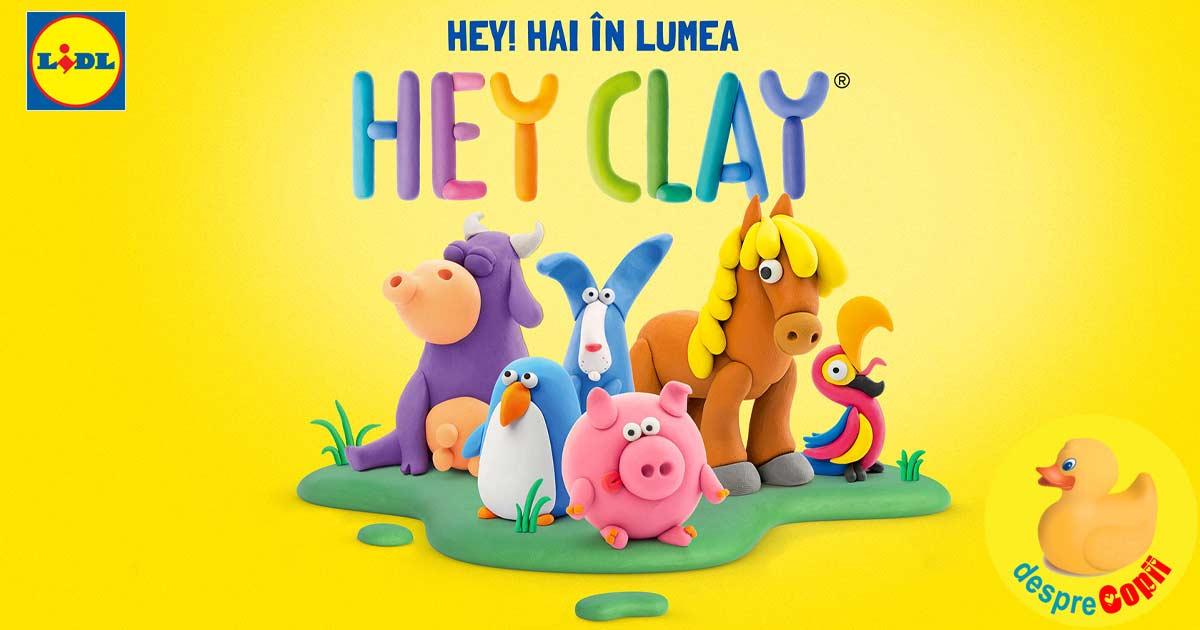 Lidl Romania deschide portile creativitatii celor mici si aduce universul Hey Clay in toate magazinele din tara