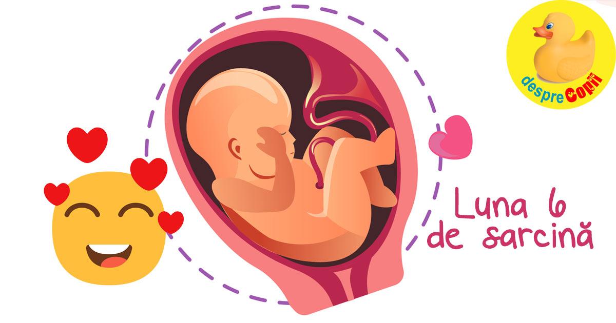 Luna 6 de sarcina: bebelusul e activ iar mami are nevoie de rasfat