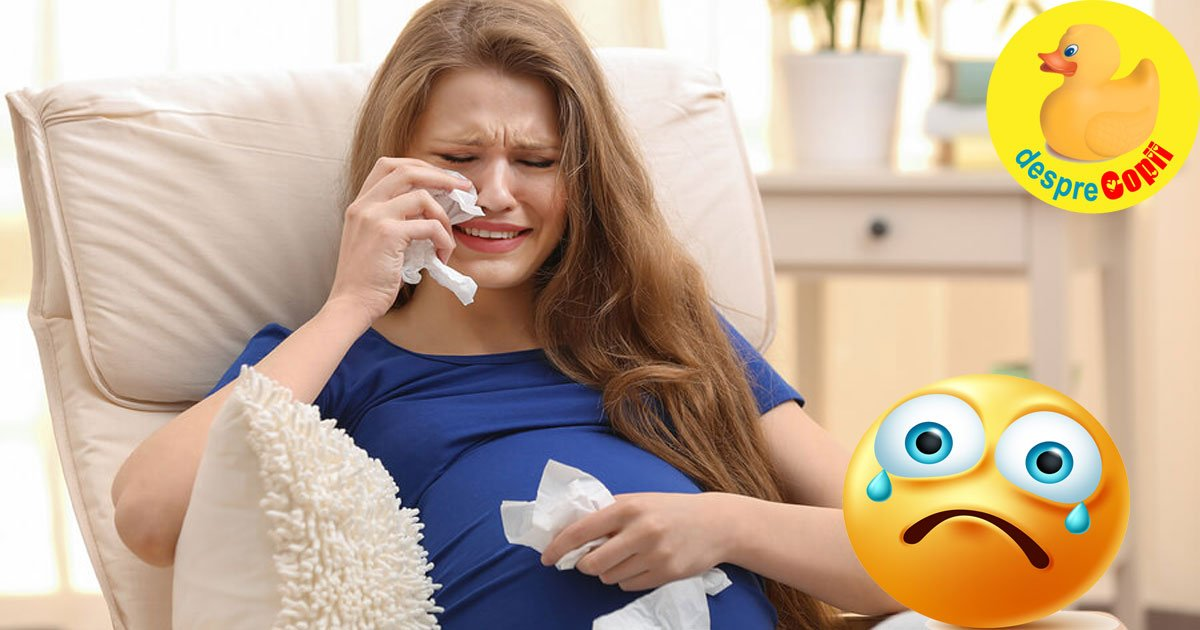 Ce simte fatul cand mamica plange, in timpul sarcinii? Toate emotiile ajung si la bebelus.