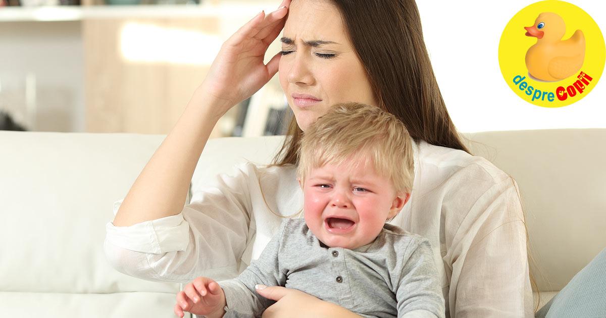 O mama stresata inseamna un bebelus plangacios. Mami nu transmite sentimente negative bebelusului tau.