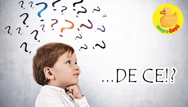 Ce raspunzi copilului cand mereu intreaba: DE CE si de este important sa nu iti pierzi rabdarea