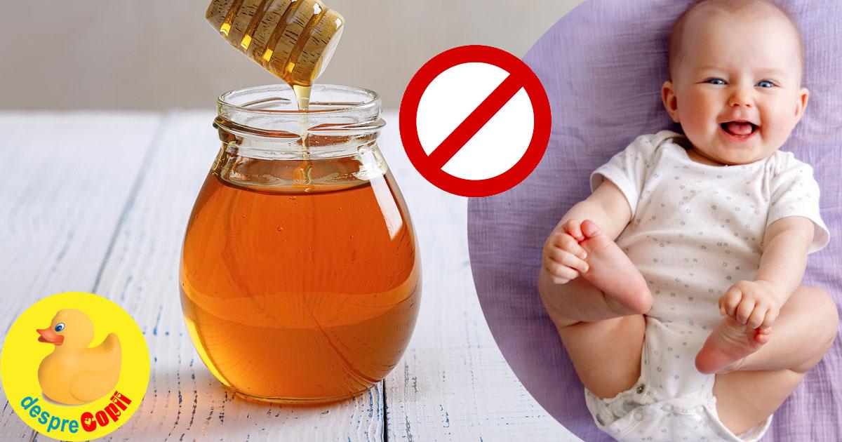 Mierea este un aliment interzis bebelusilor: ce riscuri poate aduce mierea sanatatii bebelusului