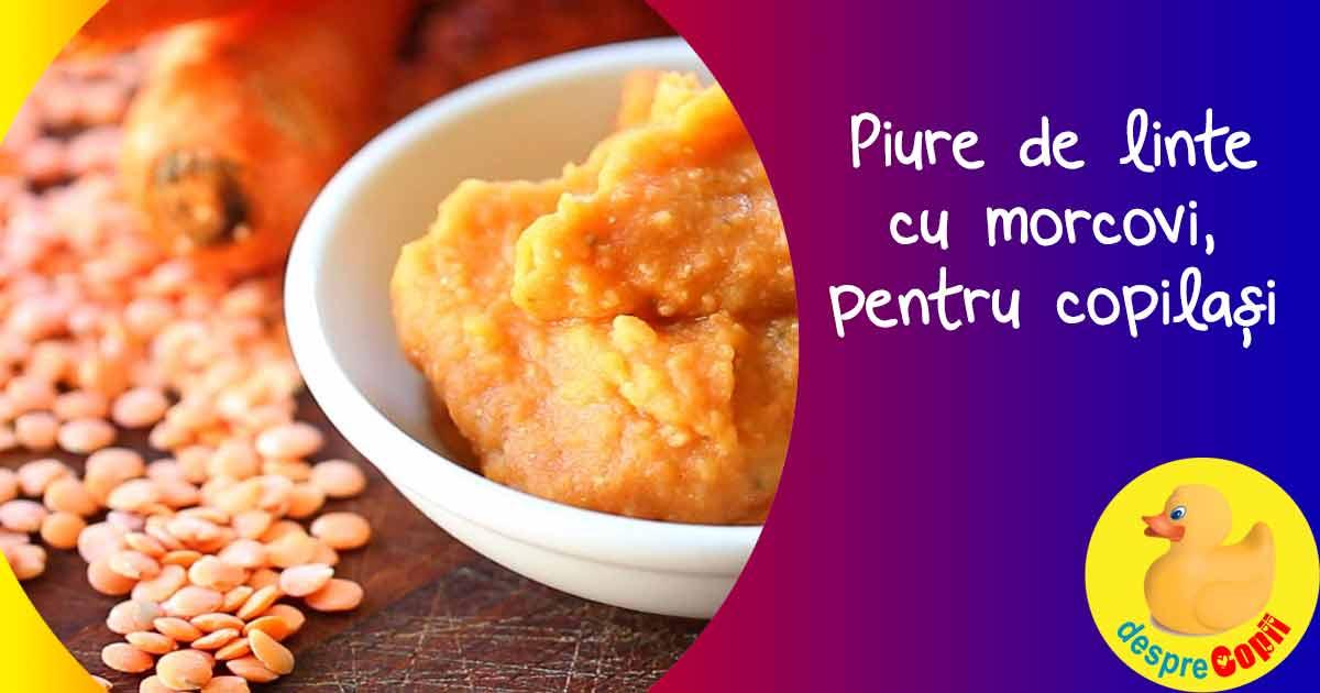 Piure de morcov si linte rosie - reteta pentru bebelusi si copilasi