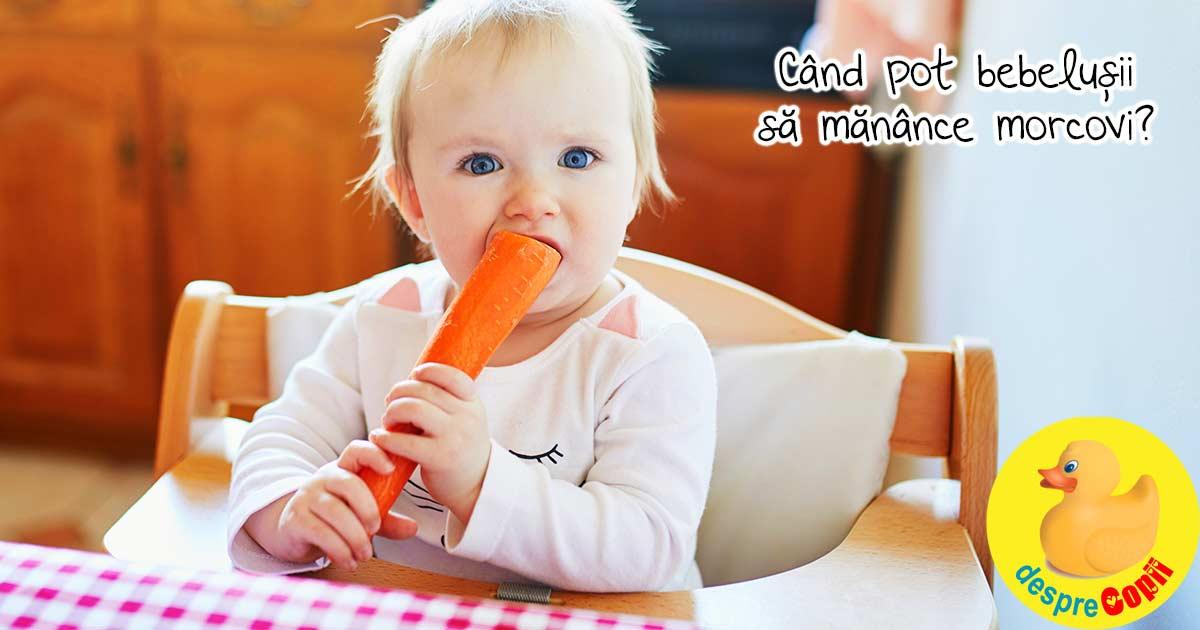 Morcovul in alimentatia bebelusului: cand il putem oferi bebelusului si ce calitati are