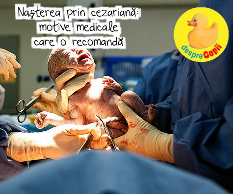 Nasterea prin cezariana: motive medicale care o recomanda