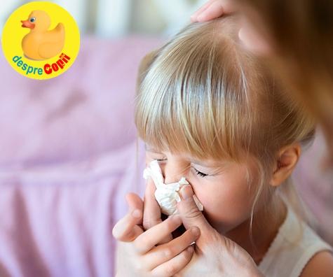 Congestia nazala sau eternul nasuc infundat: cum ajutam copilul