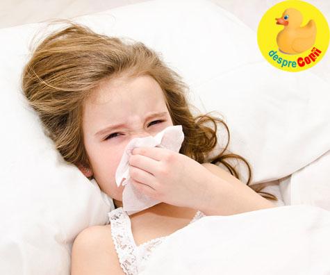 Nasucul infundat e chinuitor pentru copil  - avem insa o recomandare utila