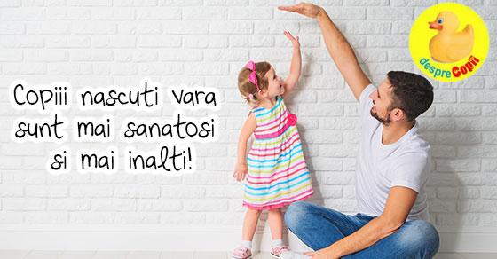 Copiii nascuti vara sunt mai sanatosi si mai inalti!