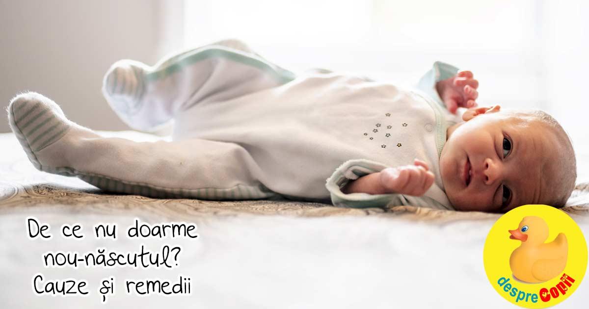 De ce nu doarme bebelusul nou-nascut: cunoaste aceste 6 cauze si remedii