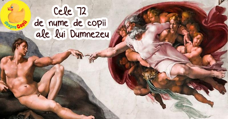 Cele 72 de nume de copii ale lui Dumnezeu