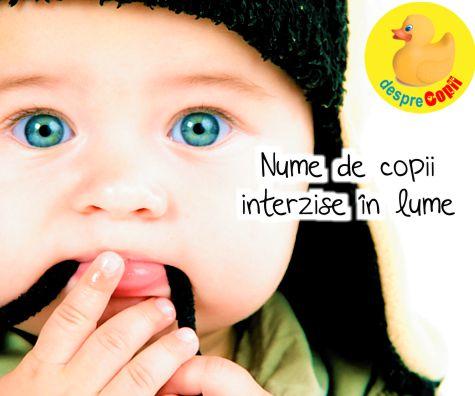 Nume de copii interzise in lume