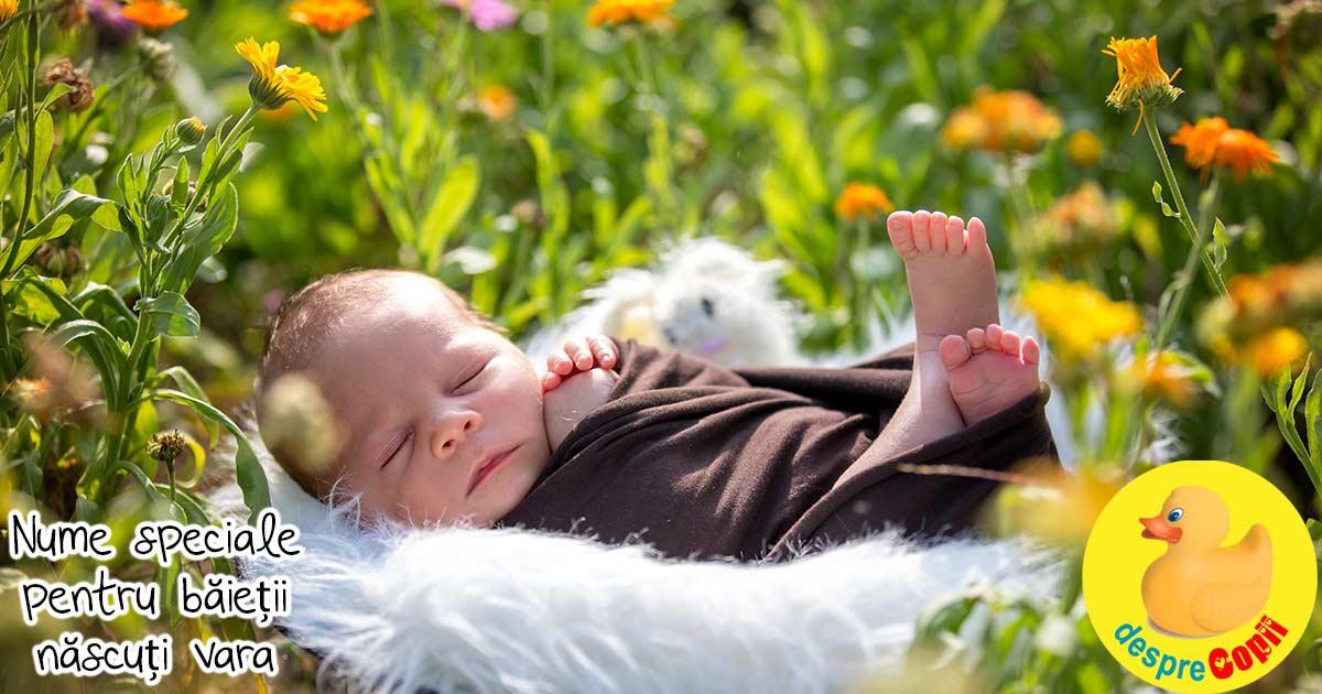 25 de nume pentru baietii nascuti vara - o selectie de nume care aduc lumina si caldura