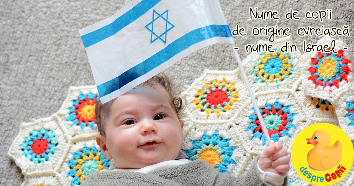 Cele mai populare nume de copii din Israel