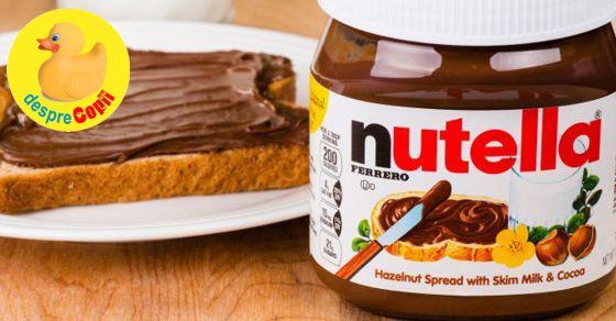 Nutella cauzeaza cancer? Fapte si intrebari pe care orice parinte trebuie sa le stie
