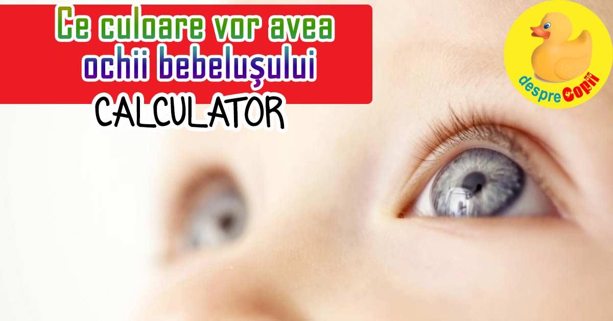 Ce culoare vor avea ochii bebelusului: calculatorul acesta iti spune