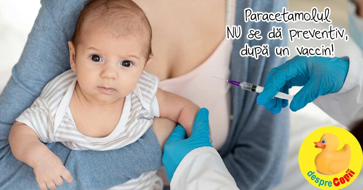 Paracetamolul dupa vaccinare - reduce eficacitatea imunizarii copiilor