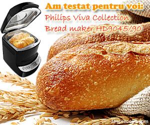 Philips Viva Collection Bread maker HD9045/90, stie secretul painii de casa